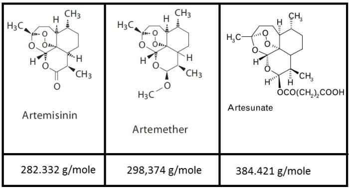 Artemisinina e derivati, dosaggi e attivitàanti-virale